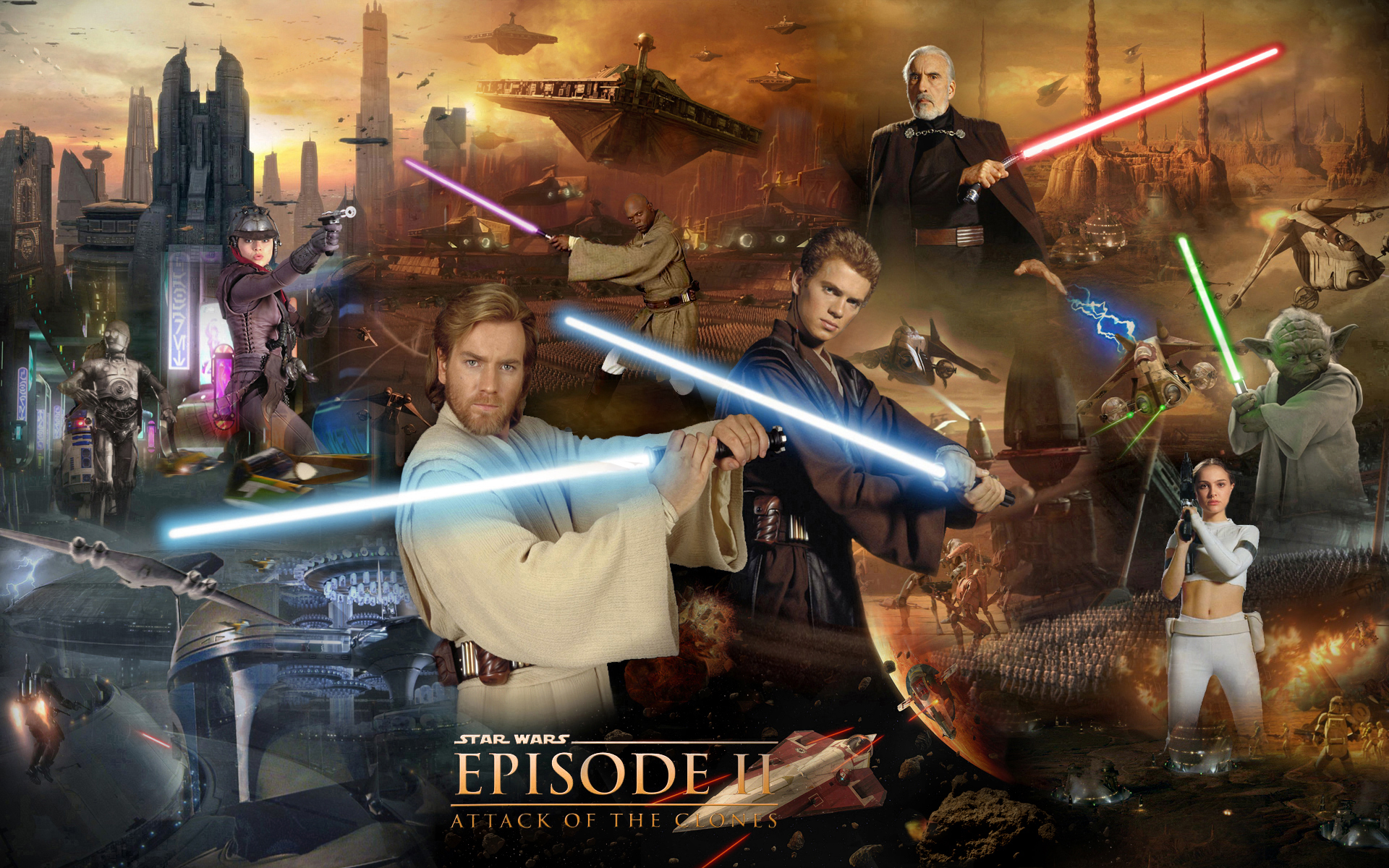 Image result for star wars attack of the clones wallpaper