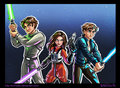 The Solo Kids - Jacen, Jaina, and Anakin Solo