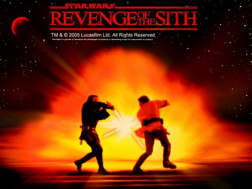 bintang Wars: Revenge of the Sith wallpaper containing a sunset, anime, and a api titled ROTS (Ep. III) - Anakin vs. Obi-Wan