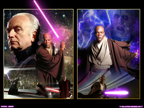 bintang Wars: Revenge of the Sith wallpaper probably with a konser entitled ROTS (Ep. III) - Palpatine vs. Mace Windu