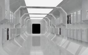 l'espace ship corridor