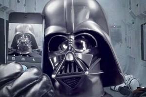 Darth Vader taking a selfie