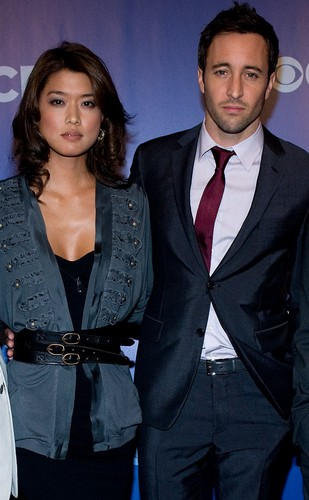 Steve and Kono wallpaper containing a business suit, a suit, and a three piece suit titled Grace and Alex