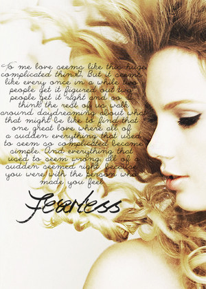 taylor's speech before preforming 'fearless'