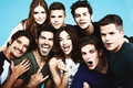 Teen lobo Cast TV Guide Comic Con Photoshoot