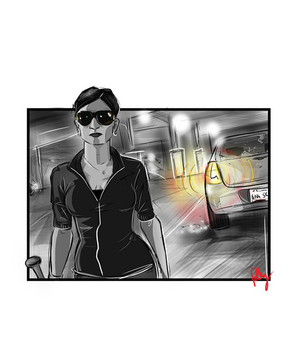 The Good Wife wallpaper with sunglasses titled Kalinda Sharma