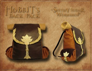 Hobbit's leather back pack (inspired Bilbo Baggins) 의해 Svetliy-Sudar
