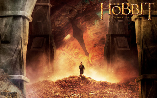 The Hobbit Wallpaper Probably With A Fountain And Fire Entitled Desolation