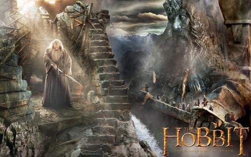 호빗 바탕화면 containing a 불, 화재 entitled The Hobbit: The Desolation of Smaug 바탕화면