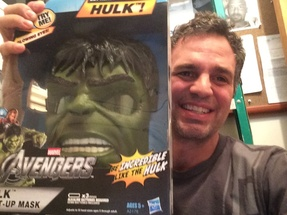 Mark Ruffalo with Hulk Mask