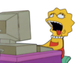 Lisa on the computer - the-simpsons fan art