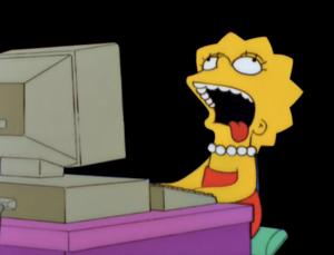 Lisa on the computer