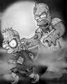 Homer and bart as zombies - the-simpsons fan art