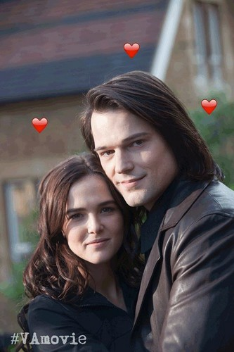 The Vampire Academy Blood Sisters वॉलपेपर probably containing a portrait entitled Zoey and Danila new pic