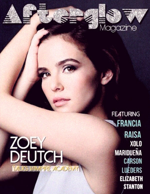 Zoey on the cover of Afterglow magazine