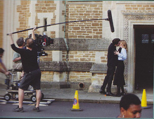 New BTS of Christian and Lissa from the Vampire Academy Ultimate Guide