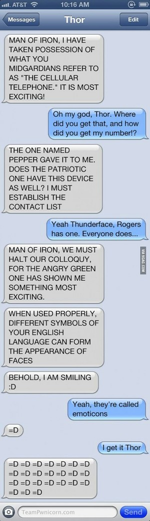 Thor and Iron Man convo