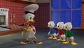 Scrooge, Huey, Dewey, and Louie