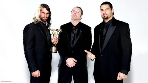 WWE 바탕화면 with a business suit called The Shield