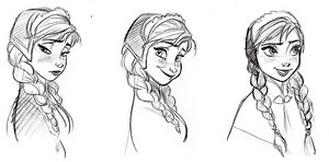 Walt 迪士尼 Sketches - Princess Anna