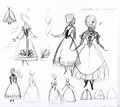Walt Disney Sketches - Princess Anna - walt-disney-characters photo