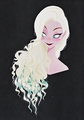 Walt Disney Sketches - Queen Elsa - walt-disney-characters photo