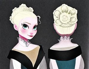 Walt ডিজনি Sketches - কুইন Elsa