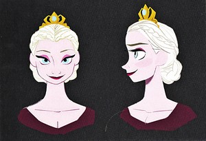 Walt Дисней Sketches - Queen Elsa