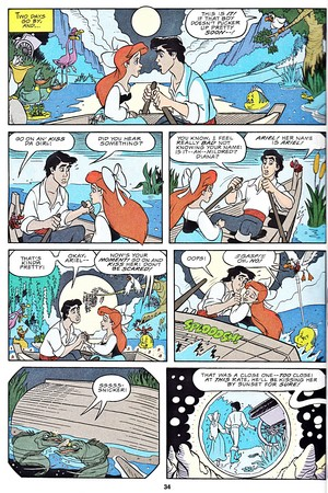 Walt 디즈니 Movie Comics - The Little Mermaid (English Version)