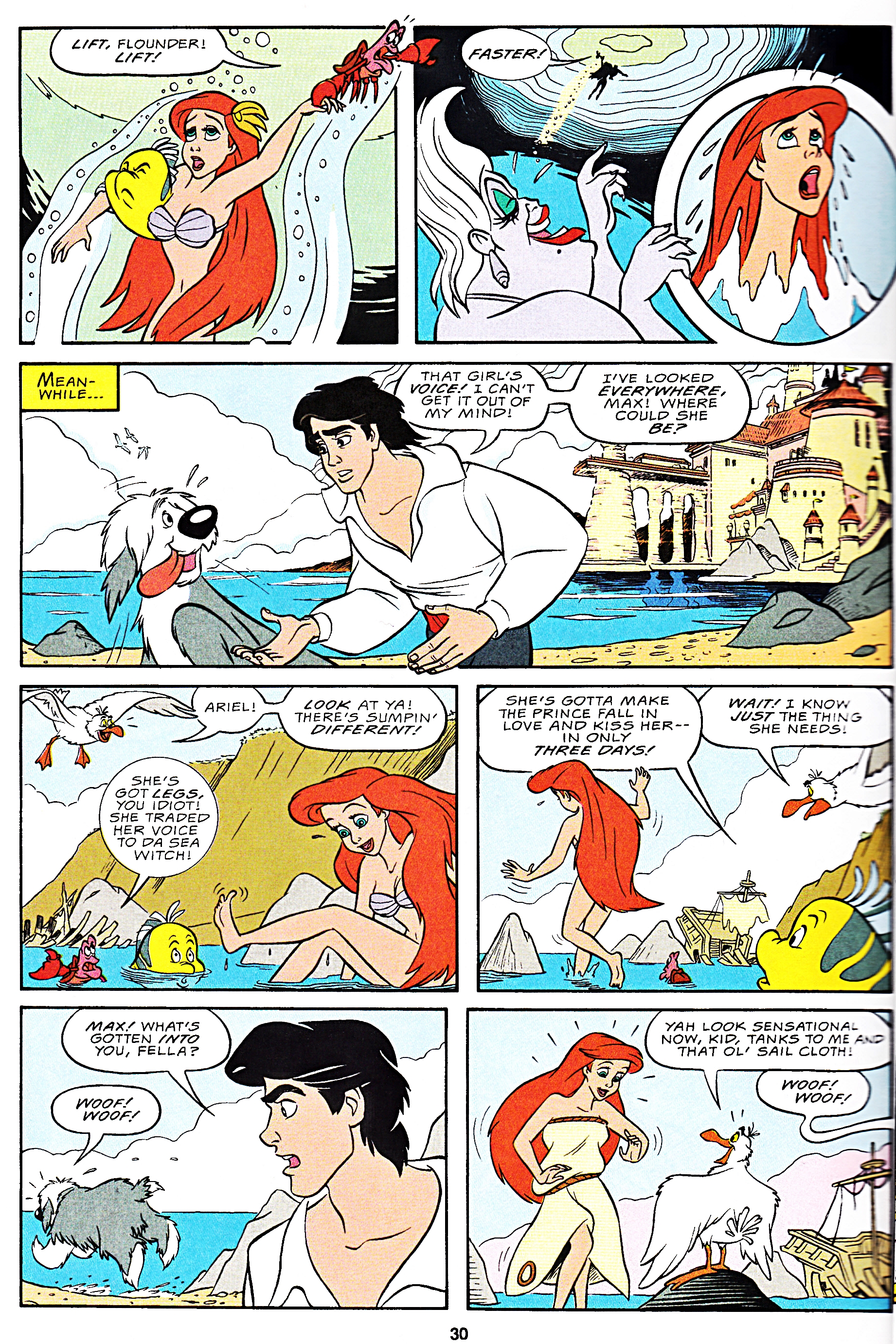 Walt ডিজনি Movie Comics - The Little Mermaid (English Version)