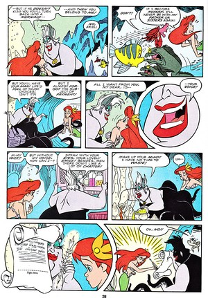 Walt Дисней Movie Comics - The Little Mermaid (English Version)