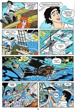 Walt ディズニー Movie Comics - The Little Mermaid (English Version)