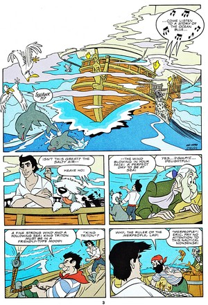 Walt डिज़्नी Movie Comics - The Little Mermaid (English Version)