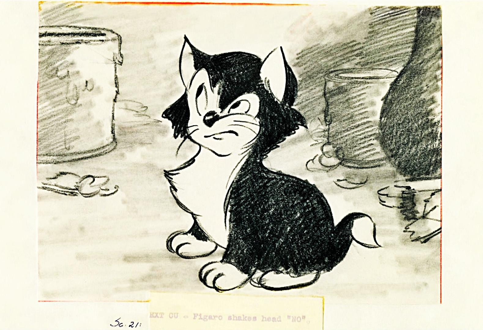 Walt Disney Sketches - Figaro