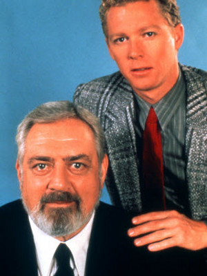 William Katt and Raymond Burr