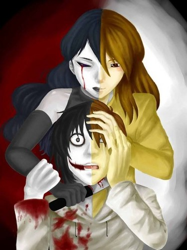 creepypasta پیپر وال titled Jeff and Jane the Killer