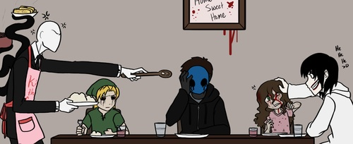 Slenderman the angry chef of house wife like thing