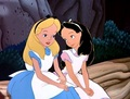 Alice And Her Black-Hairs Cousin In The Wood Of Wonderland - disney-crossover photo