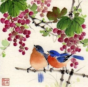 My drawing of bluebirds