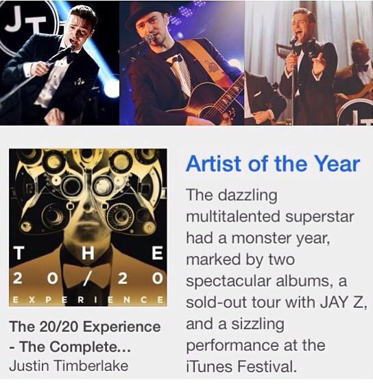 iTunes Artist of the Year 2013