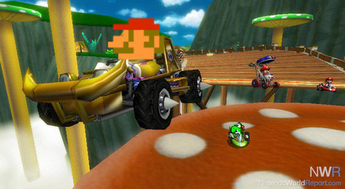 "Mario Kart 바탕화면 possibly containing a living room entitled if mkwii was made in the 50""s"