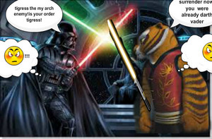 master tigress vs darth vader