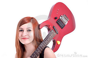 guitar, gitaa girl