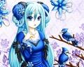 Blue Dress Anime girl