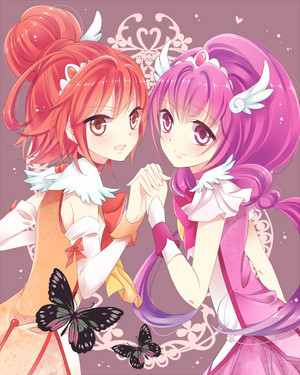 Twin Аниме girl