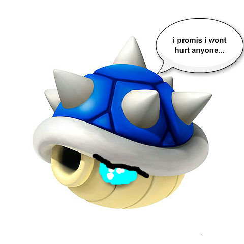 Mario Kart 바탕화면 called sad blue shell