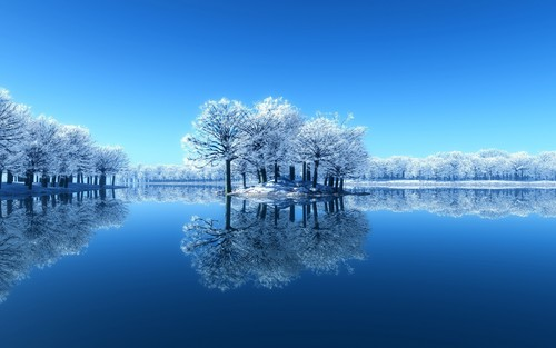 snow wallpaper possibly with a lakeside and a towpath titled Snow in Winter