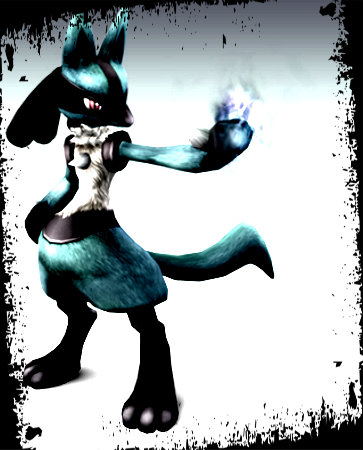 Super Smash Bros. Brawl karatasi la kupamba ukuta entitled twilight lucario