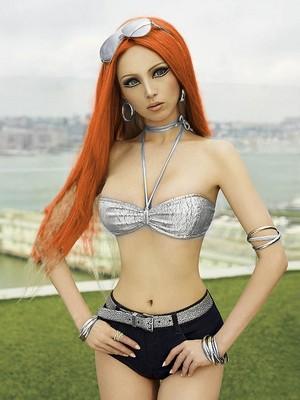 Valeria Lukyanova Red Head