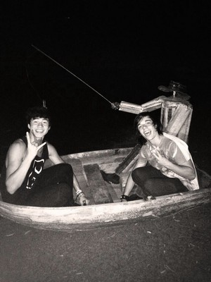 Fishing with a friend
